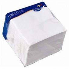 DUNI: Салфетки столовые 2сл 125листов 40х40 белые