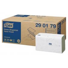 Tork: Полотенца бумажные H3 Advanced Singlefold 250л 2сл 23х25см зеленые
