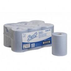 Kimberly-Clark: Полотенца бумажные Скотт Слимролл 190м/19,8 1сл синие