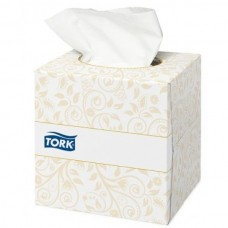 Tork: Салфетки *F1 Premium 100л 2сл 21х20см для лица ультрамягкие в кубе белые