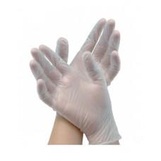 Перчатки: виниловые XL одноразовые