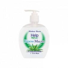Мыло жидкое: ХЭЛП 500мл крем-мыло с дозатором глицериновое Алоэ-Вера