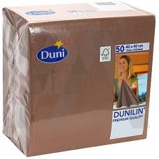 DUNI: Салфетки столовые 1сл 50листов 40х40 коричневые