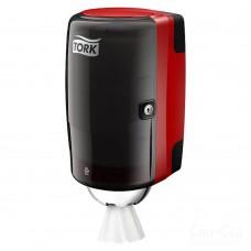 Tork: Диспенсер М1 Performance мини для полотенец с центральной вытяжкой красный