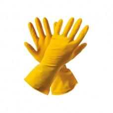 Перчатки: резиновые латексные плотность экстра XL с хлопковым напылением