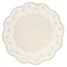 DUNI: Салфетки под чашку D=17м ажурные белые