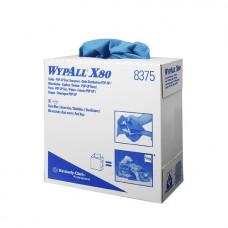 Kimberly-Clark: Салфетки Вайпол Х80 1сл 42,6х23,10см голубые