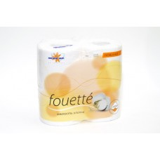 """Бумага туалетная """"Мягкий знак"""": Мягкий знак Fouette 2сл белая хлопок"""
