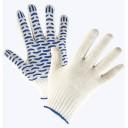 Перчатки: х/б вязаные с ПВХ 5-ти ниточные Люкс-Волна