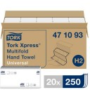 Tork: Полотенца бумажные H2 Universal Multifold 1сл 250л 21х23,4см белые