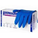 Перчатки: латексные Dermagrip High Risk L неопудренные нестерильные синие